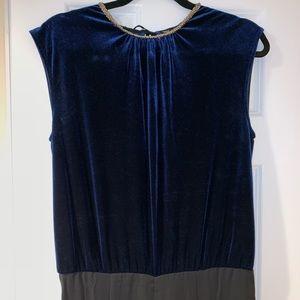 Zara jumpsuit velvet pleated playsuit large romper